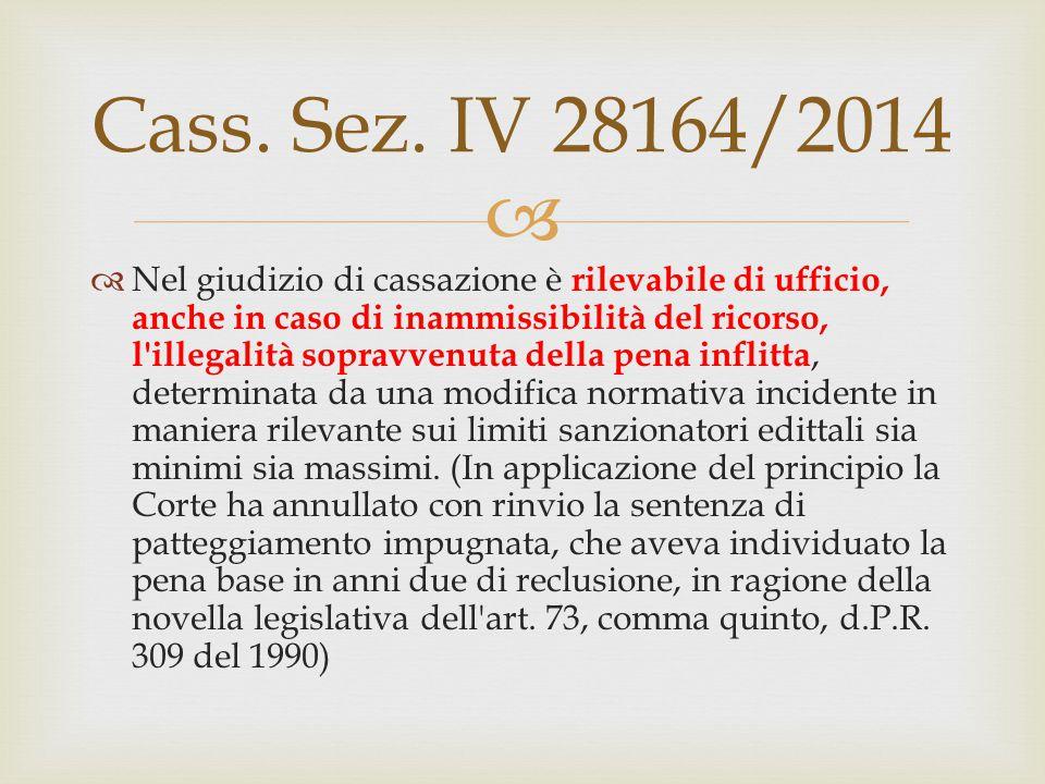 Cass. Sez. IV 28164/2014