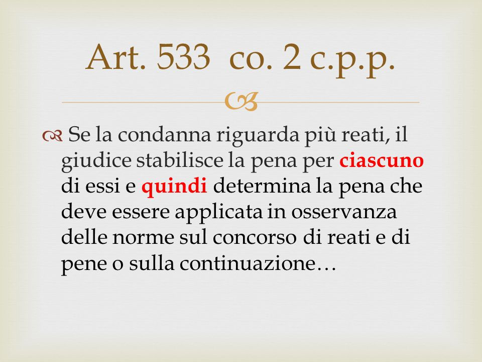 Art. 533 co. 2 c.p.p.