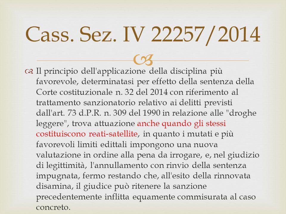 Cass. Sez. IV 22257/2014