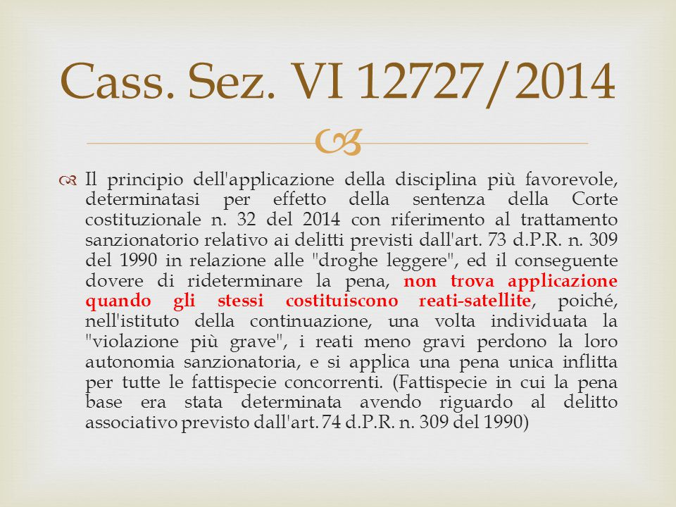 Cass. Sez. VI 12727/2014