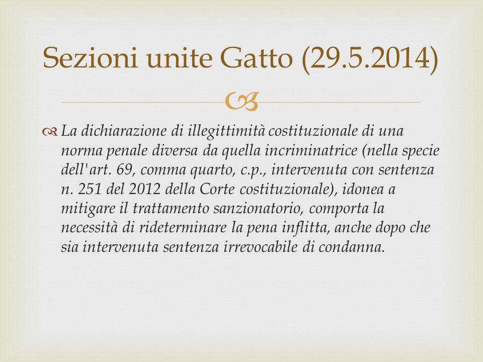 Sezioni unite Gatto (29.5.2014)
