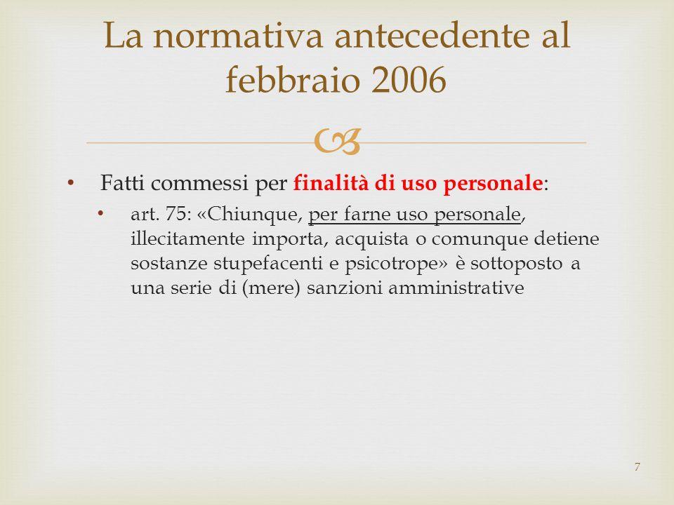 La normativa antecedente al febbraio 2006