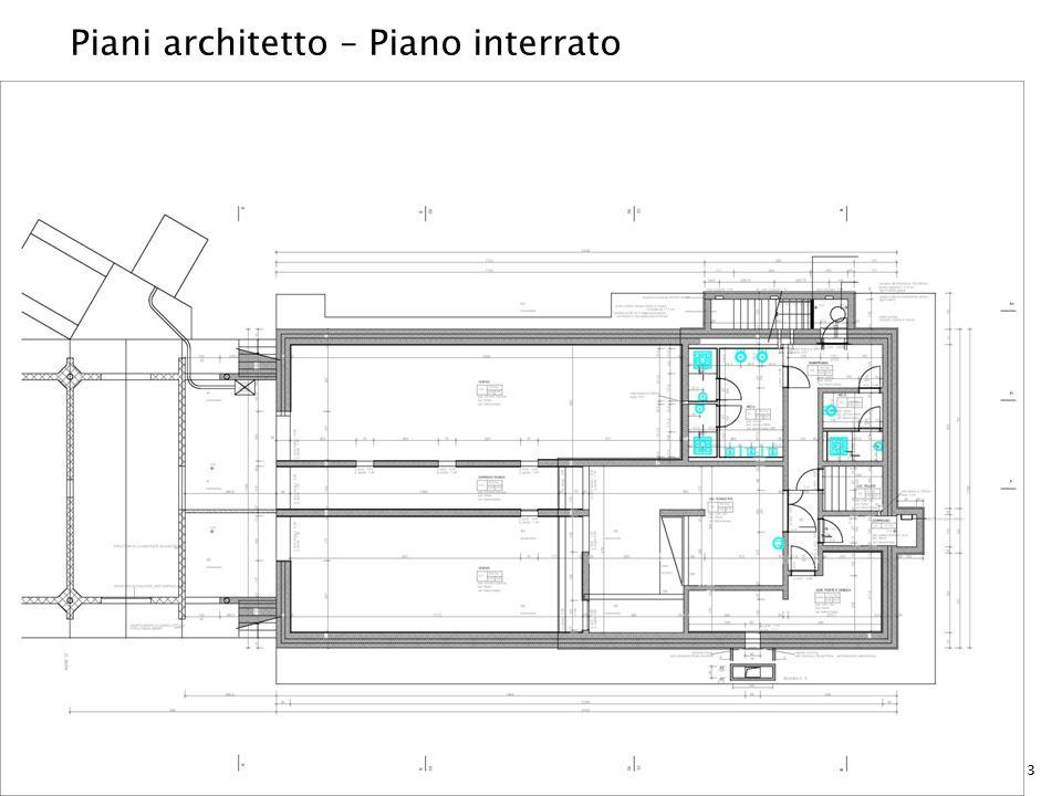 Piani architetto – Piano interrato