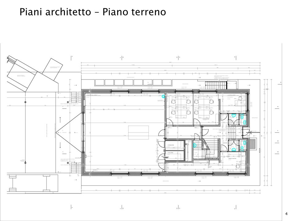 Piani architetto – Piano terreno