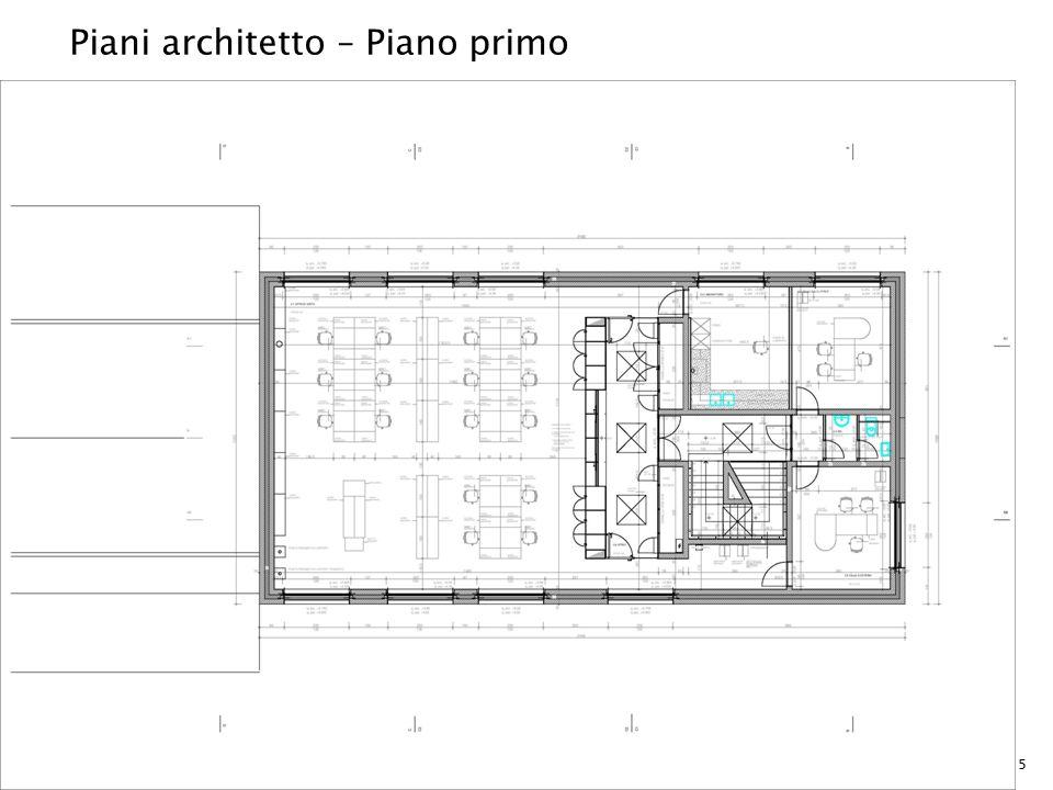 Piani architetto – Piano primo