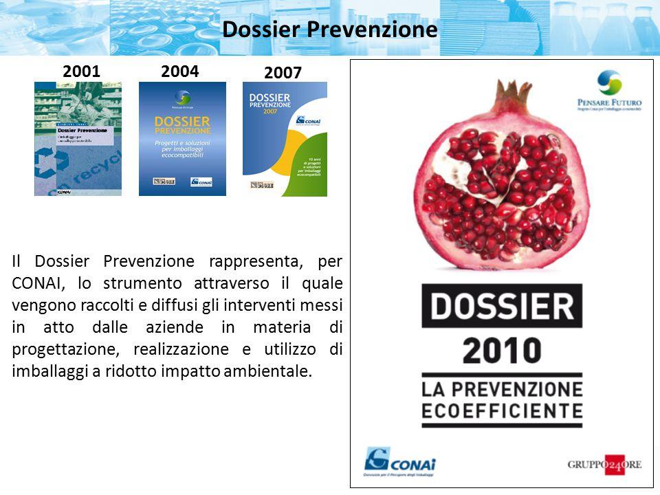 Dossier Prevenzione 2001. 2004. 2007.