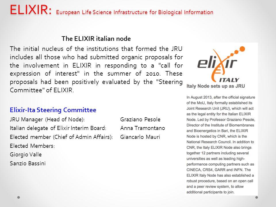 The ELIXIR italian node