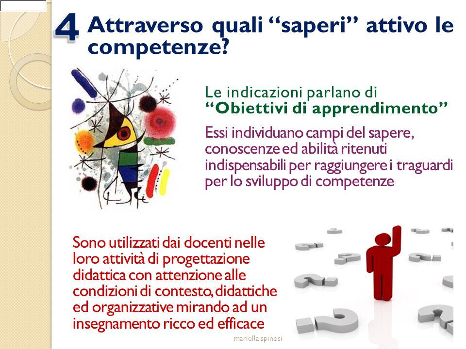 4 Attraverso quali saperi attivo le competenze