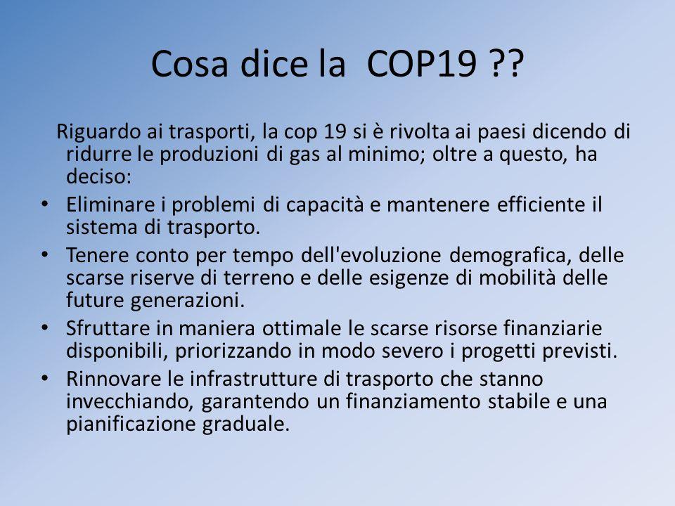 Cosa dice la COP19