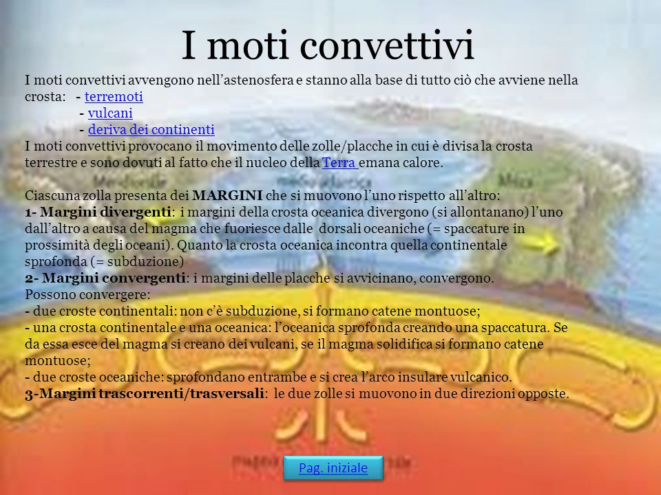 I moti convettivi Pag. iniziale