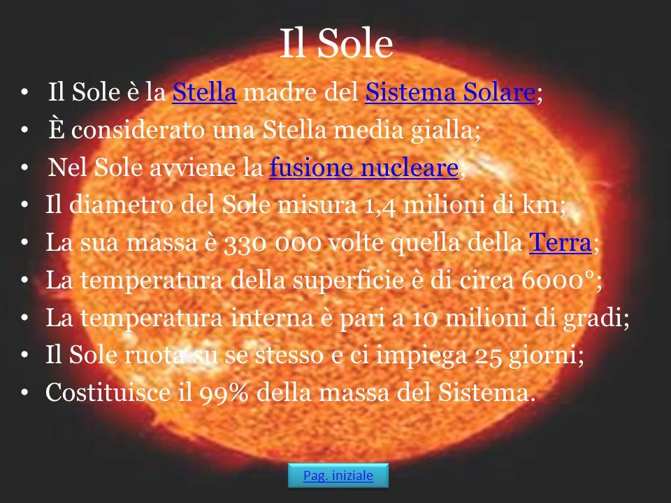 Il Sole Il Sole è la Stella madre del Sistema Solare;