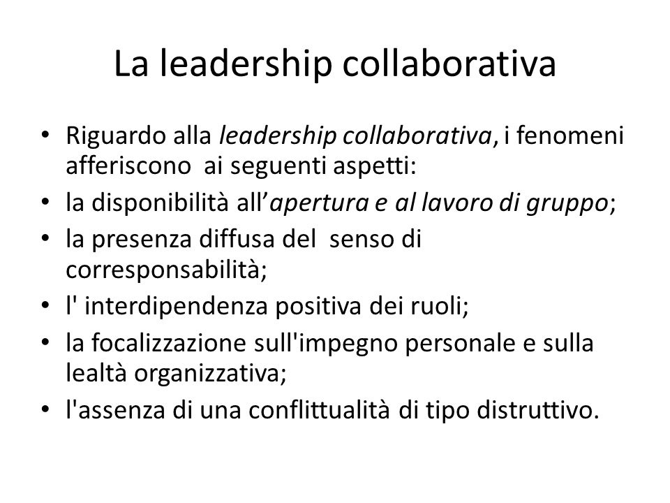 La leadership collaborativa