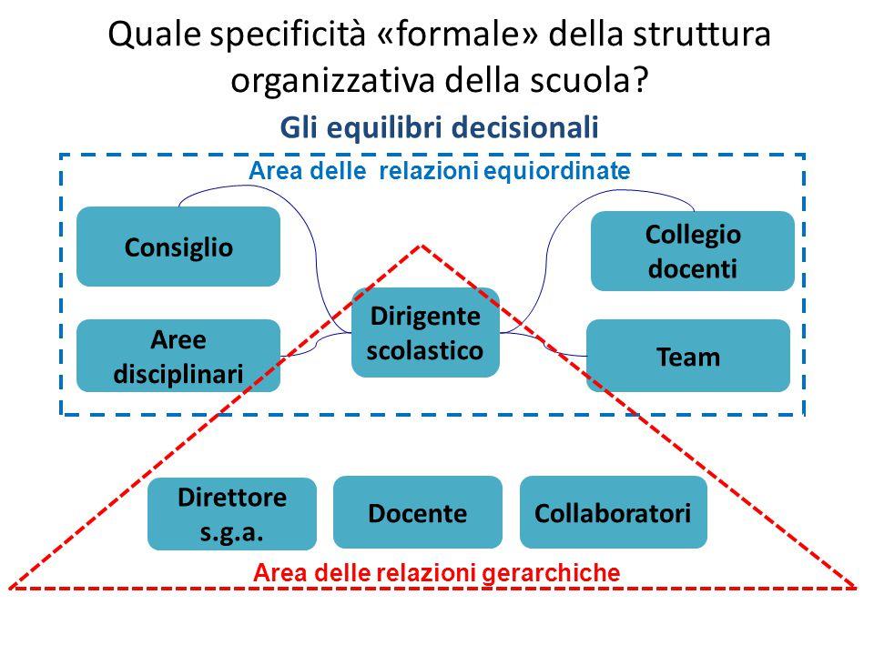 Quale specificità «formale» della struttura organizzativa della scuola