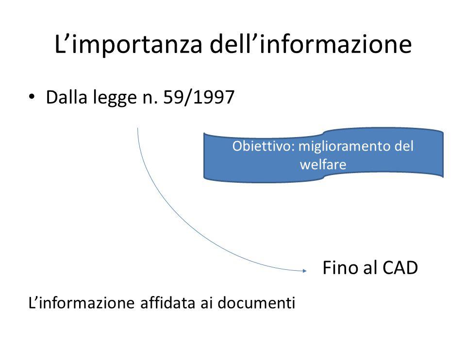 L'importanza dell'informazione