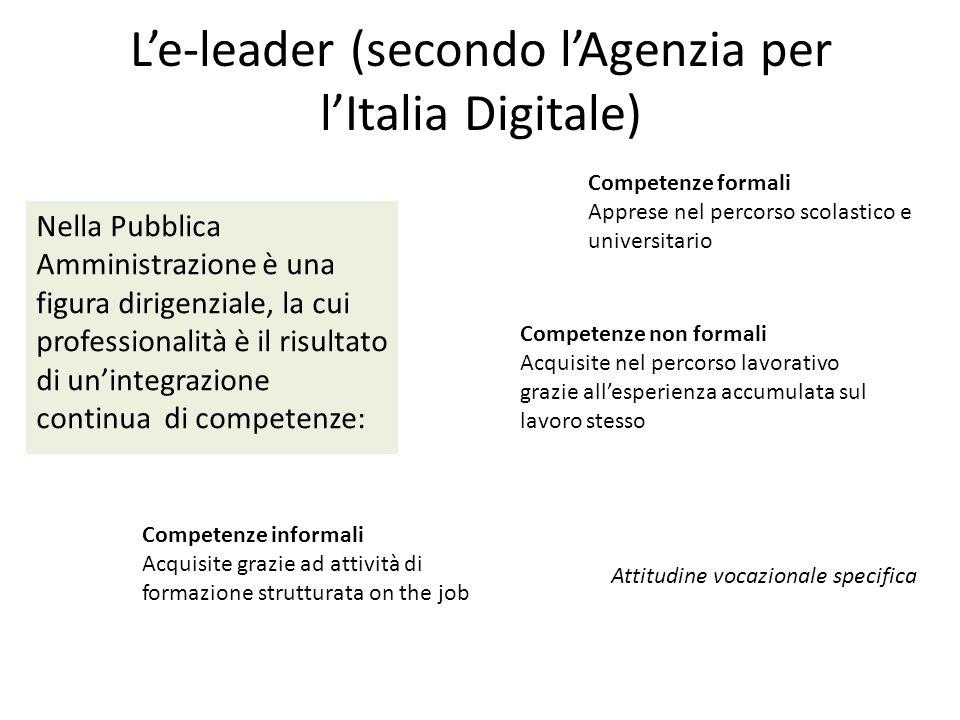 L'e-leader (secondo l'Agenzia per l'Italia Digitale)