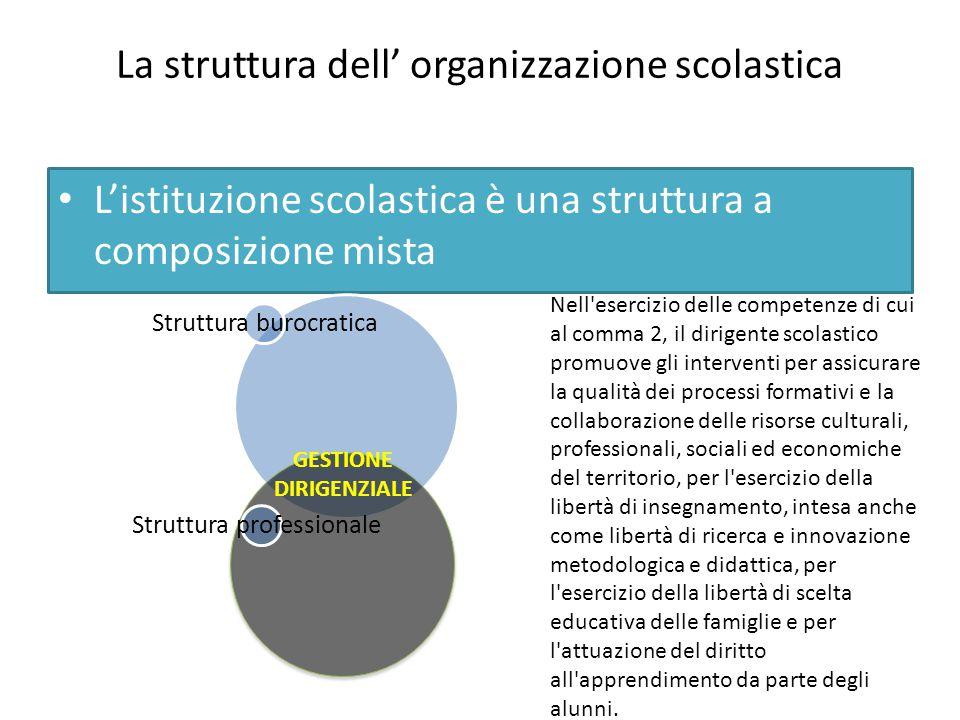 La struttura dell' organizzazione scolastica