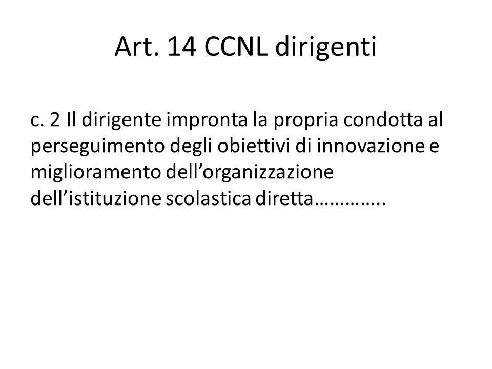 Art. 14 CCNL dirigenti