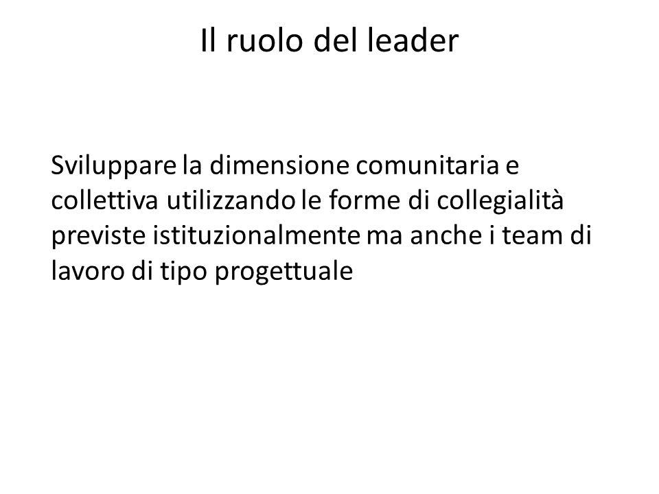 Il ruolo del leader