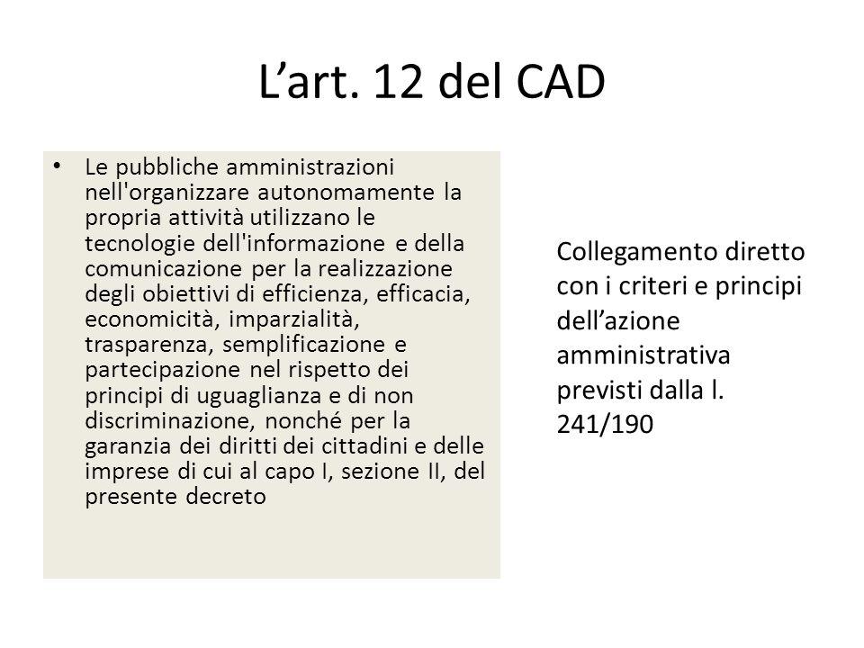L'art. 12 del CAD