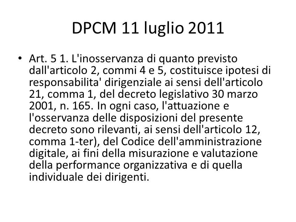 DPCM 11 luglio 2011