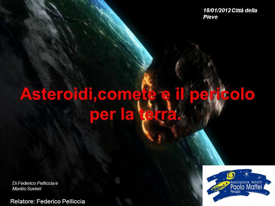 Asteroidi,comete e il pericolo per la terra.