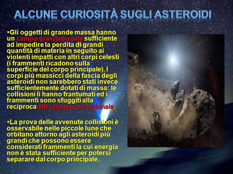 Alcune curiosità sugli asteroidi