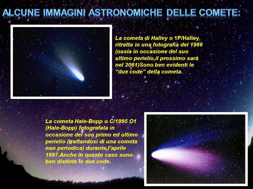 Alcune immagini astronomiche delle comete: