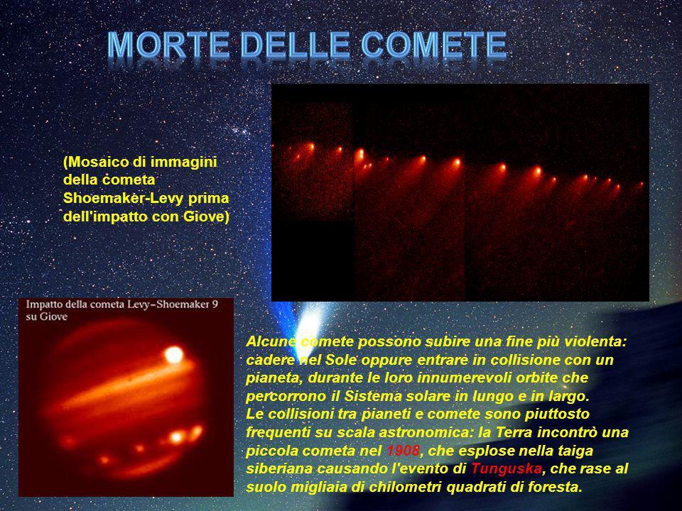 Morte delle comete (Mosaico di immagini della cometa Shoemaker-Levy prima dell impatto con Giove)