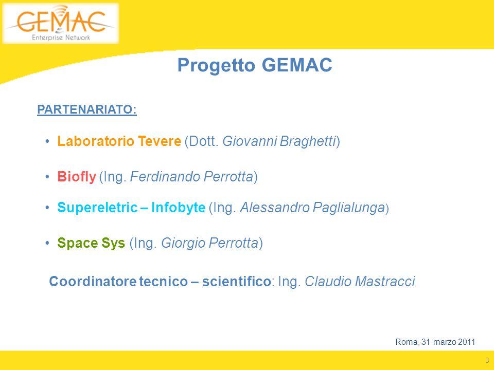 Progetto GEMAC Laboratorio Tevere (Dott. Giovanni Braghetti)
