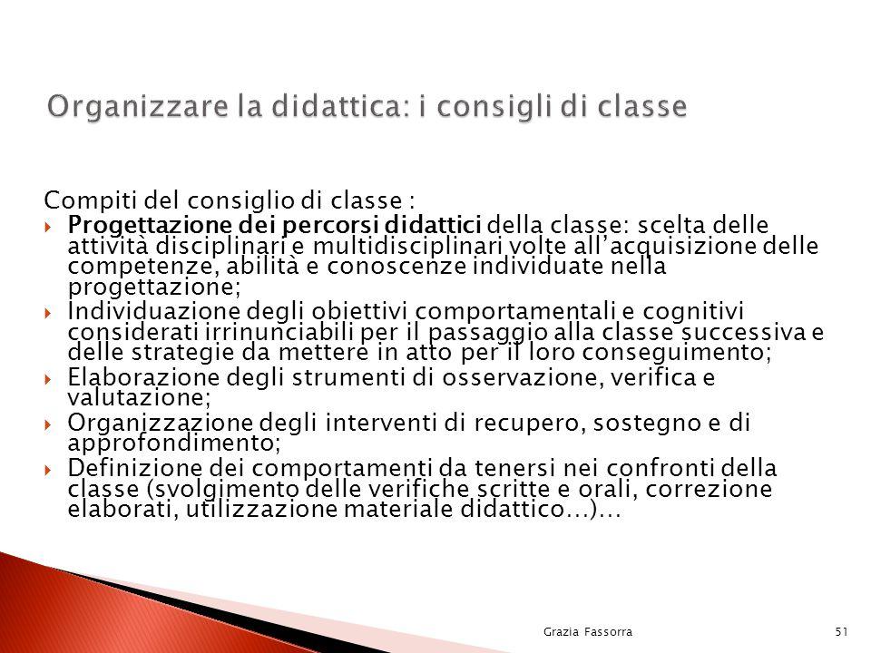 Organizzare la didattica: i consigli di classe