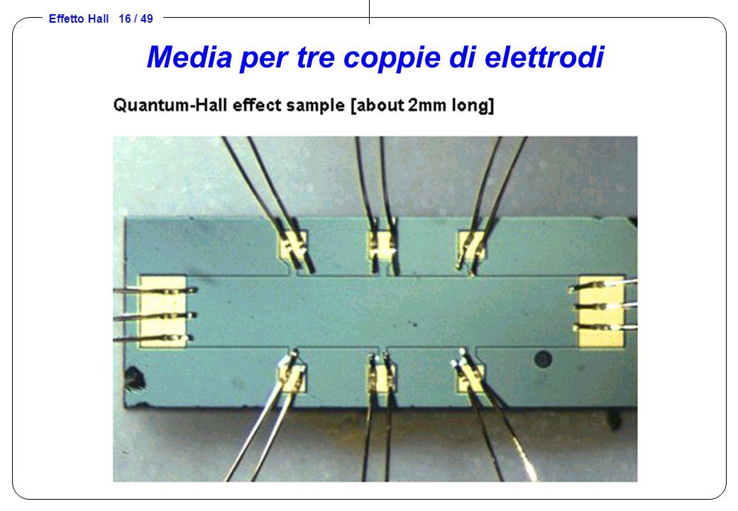 Media per tre coppie di elettrodi