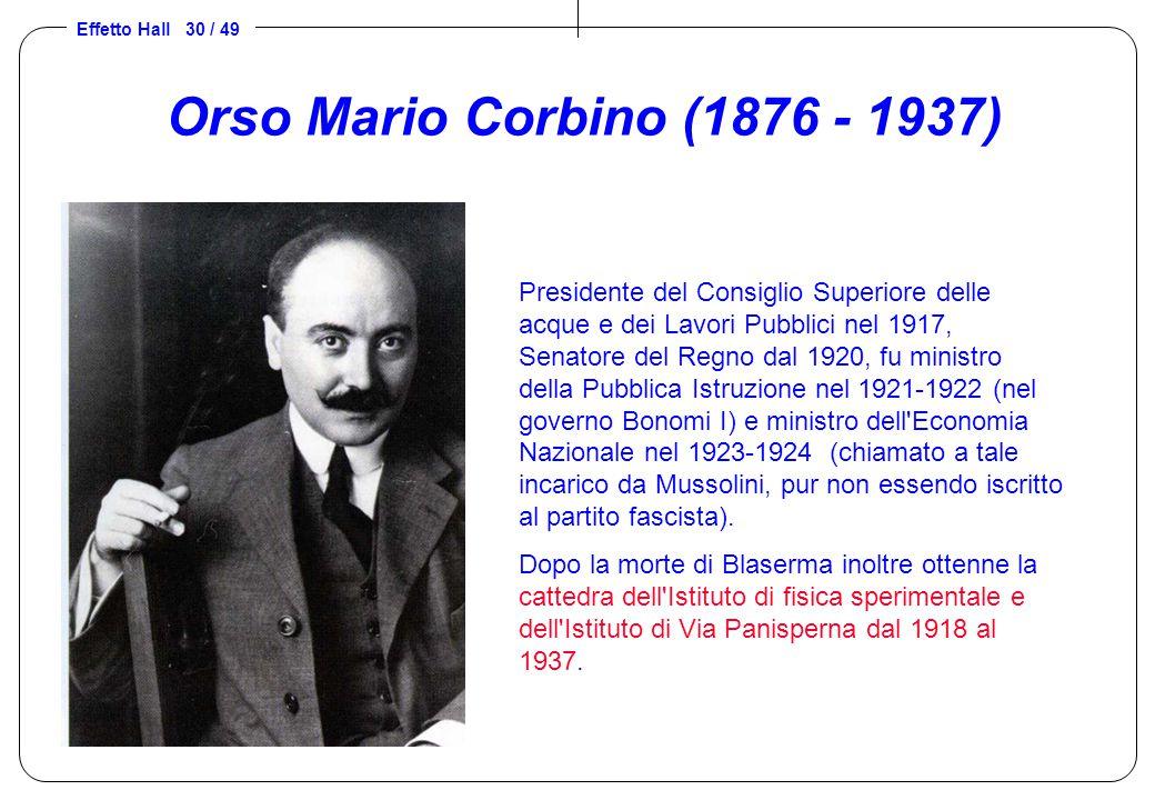 Orso Mario Corbino (1876 - 1937)