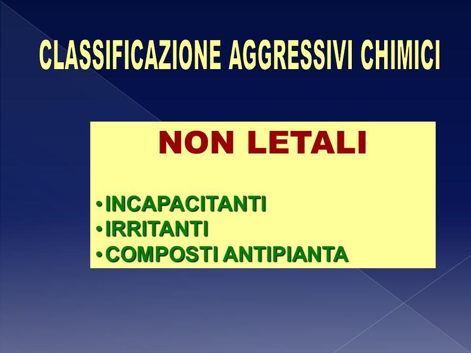 CLASSIFICAZIONE AGGRESSIVI CHIMICI