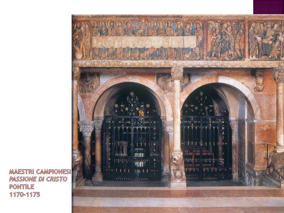 Maestri campionesi Passione di Cristo pontile 1170-1175