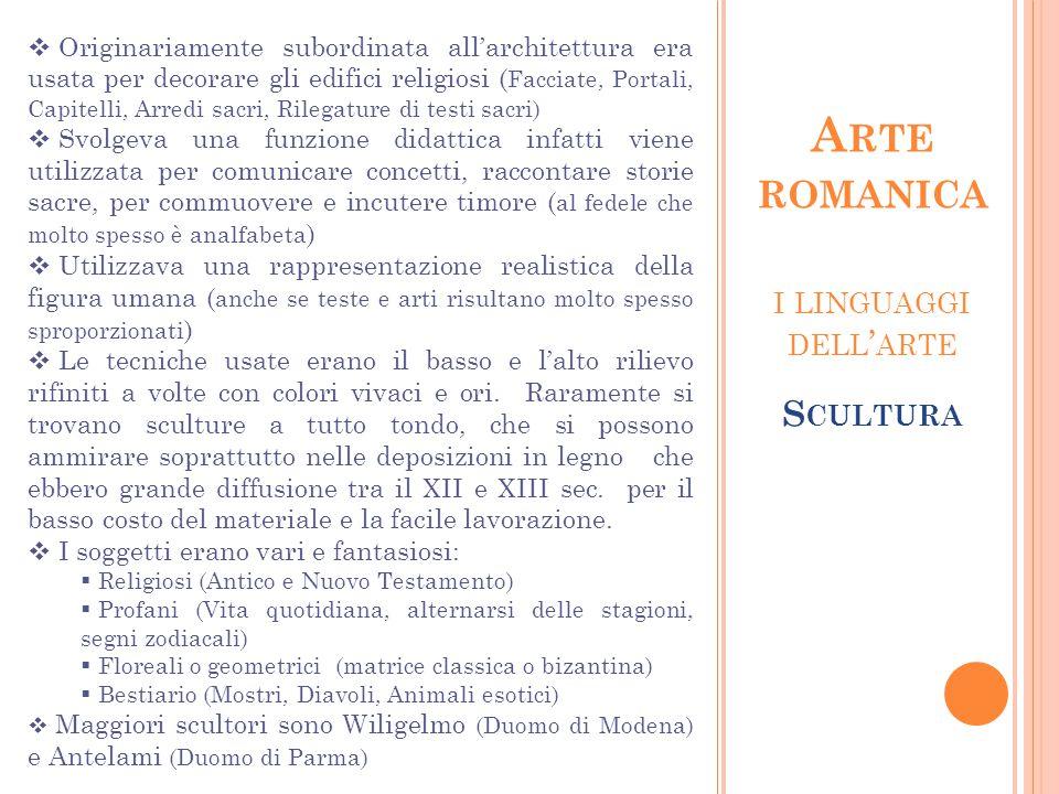 Arte romanica i linguaggi dell'arte Scultura