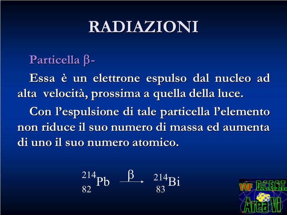 RADIAZIONI Particella -