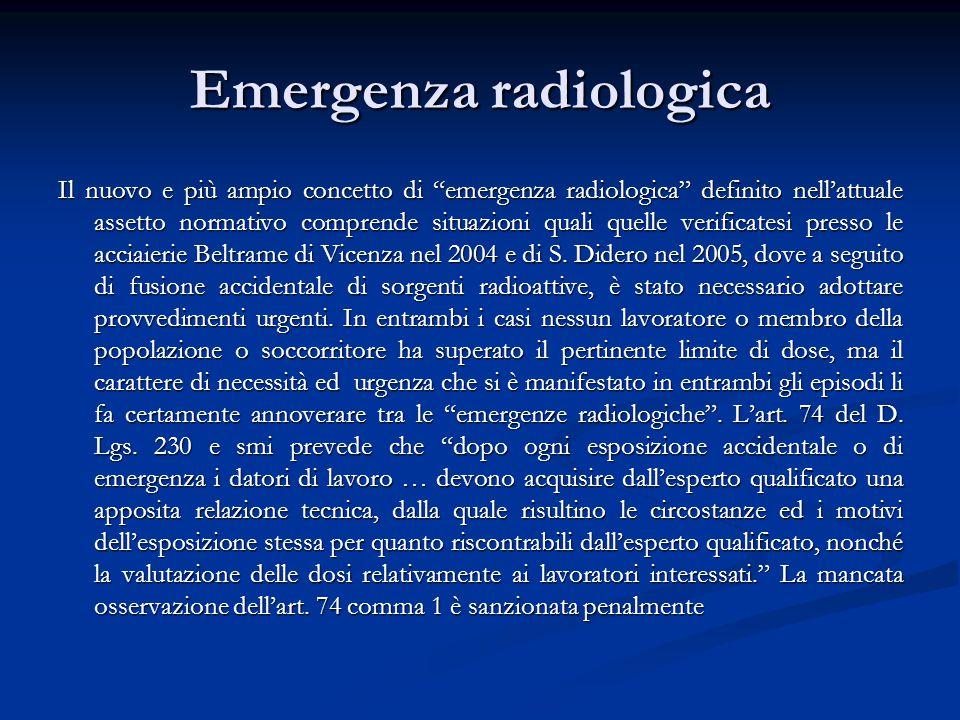 Emergenza radiologica