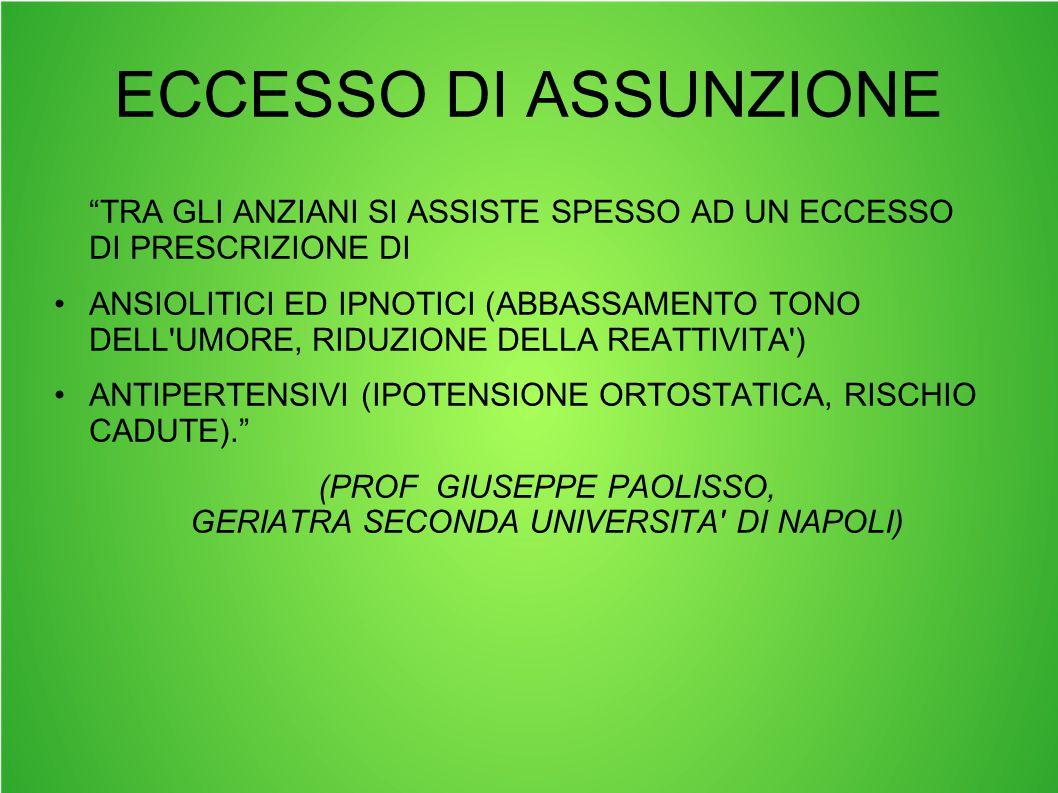 (PROF GIUSEPPE PAOLISSO, GERIATRA SECONDA UNIVERSITA DI NAPOLI)