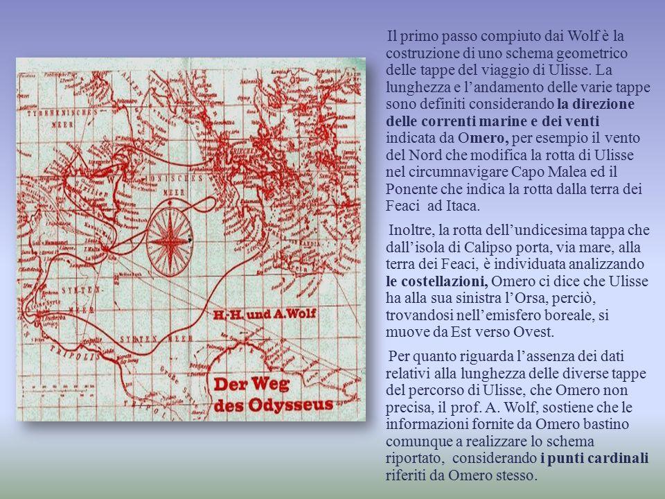 Il primo passo compiuto dai Wolf è la costruzione di uno schema geometrico delle tappe del viaggio di Ulisse.