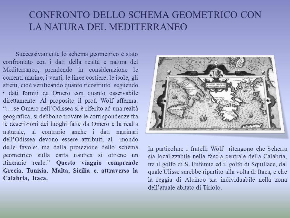Confronto dello schema geometrico con la natura del Mediterraneo