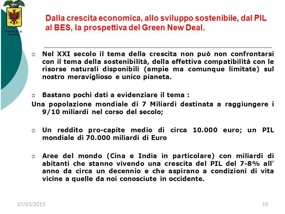Dalla crescita economica, allo sviluppo sostenibile, dal PIL al BES, la prospettiva del Green New Deal.
