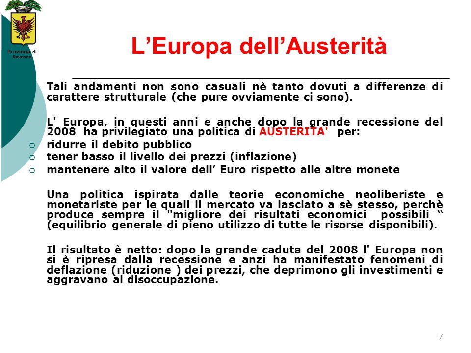 L'Europa dell'Austerità