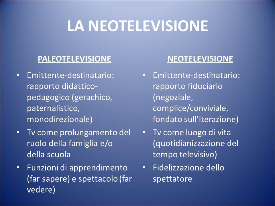 LA NEOTELEVISIONE PALEOTELEVISIONE NEOTELEVISIONE