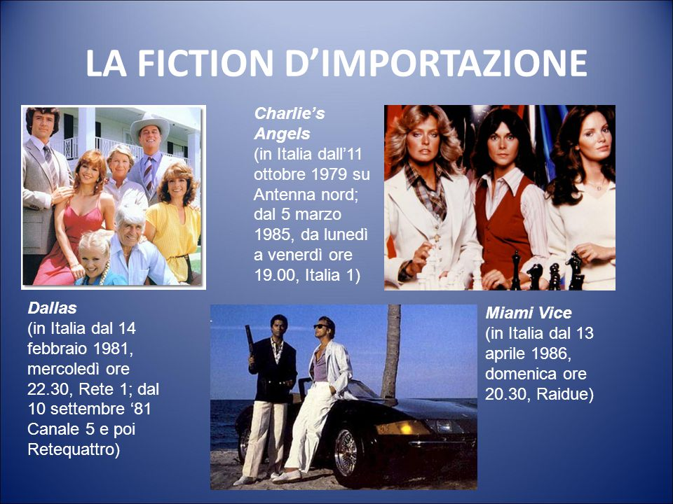 LA FICTION D'IMPORTAZIONE