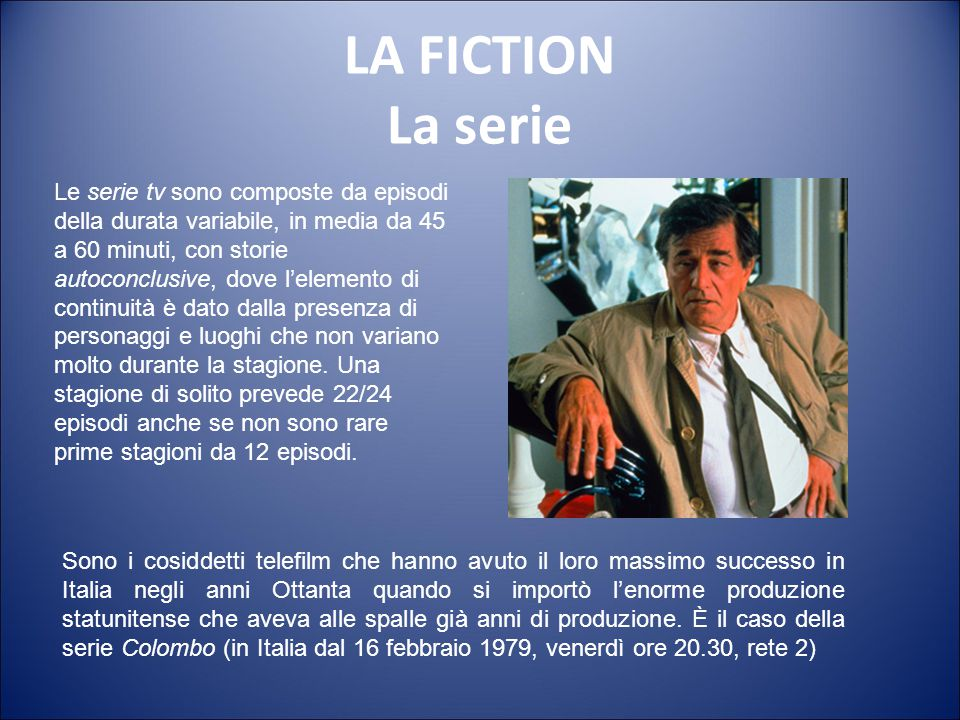 LA FICTION La serie