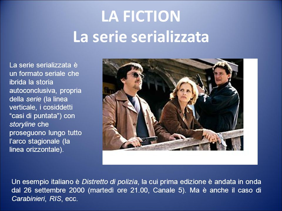 LA FICTION La serie serializzata