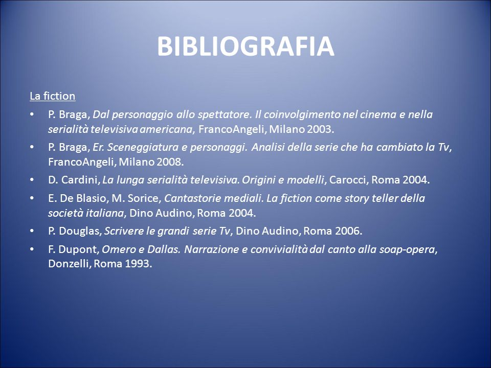 BIBLIOGRAFIA La fiction