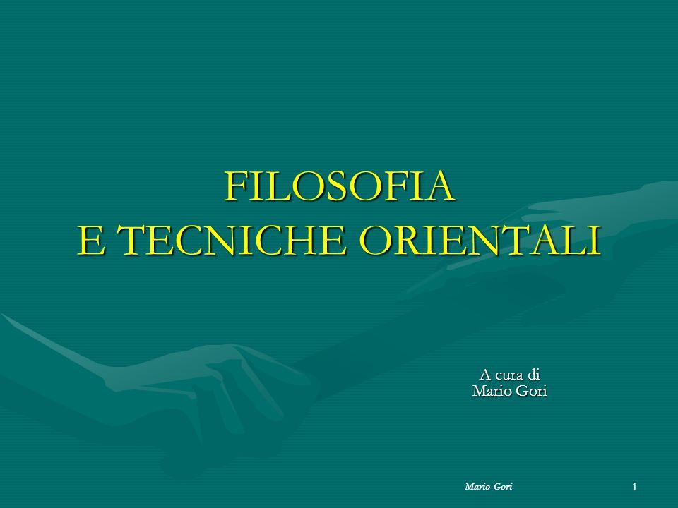 FILOSOFIA E TECNICHE ORIENTALI