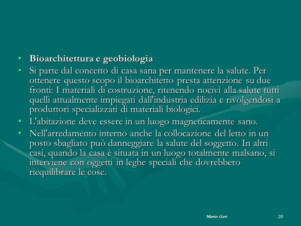 Bioarchitettura e geobiologia