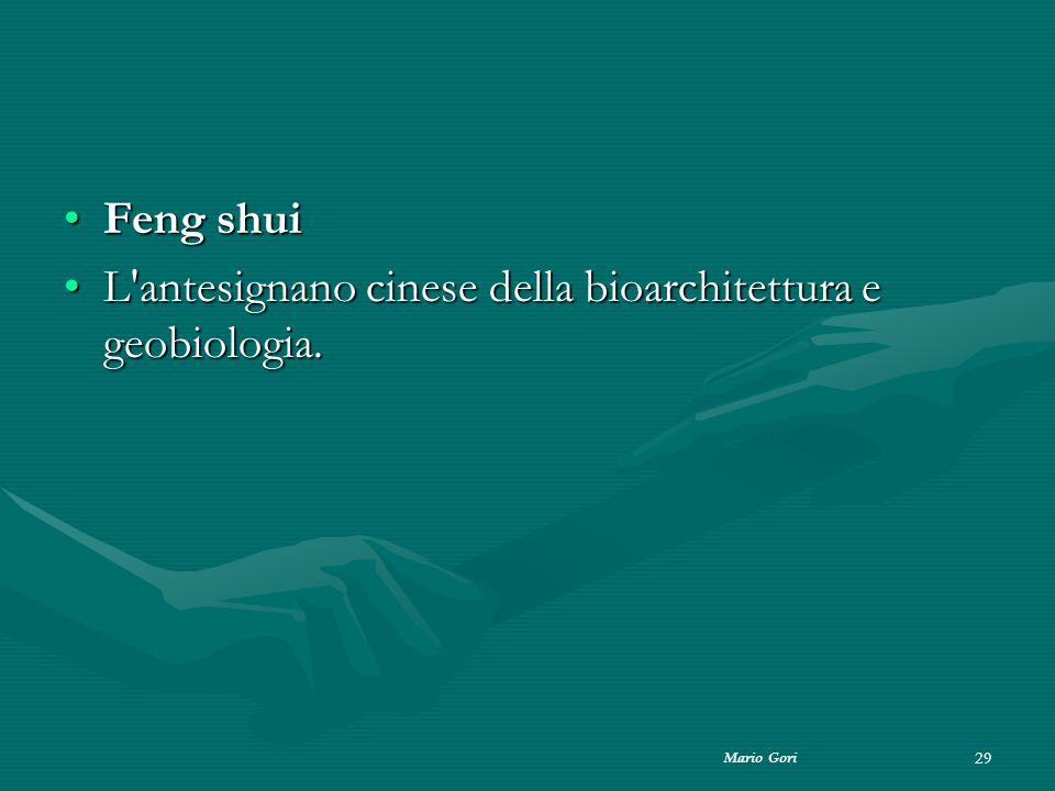 L antesignano cinese della bioarchitettura e geobiologia.
